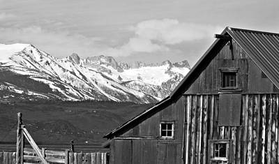 Sierra Nevada Rustic Barn Poster by Scott McGuire