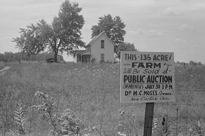Sign Advertising Farm Auction New Poster by Everett