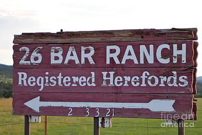 Sign Of John Waynes Old Ranch Poster by Pamela Walrath