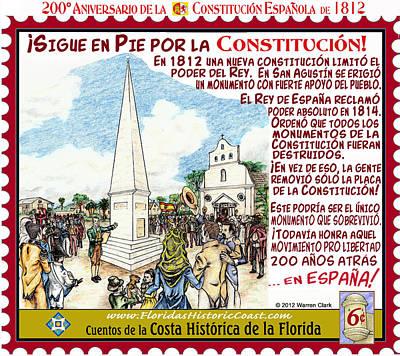 Sigue En Pie Por La Constitucion Poster by Warren Clark