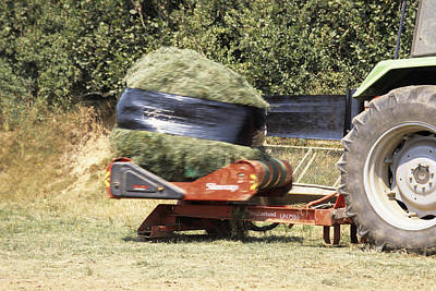Silage Wrapping Poster by David Aubrey