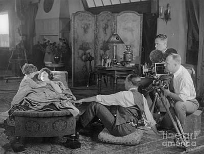 Silent Film Set, 1920s Poster