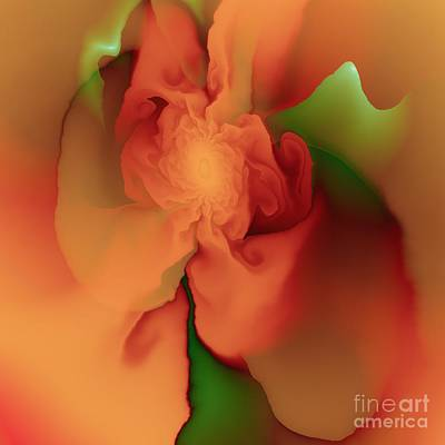 Poster featuring the digital art Silk Rose by Michelle H