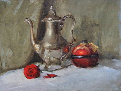 Silver Tea Pot Poster