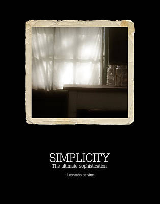 Simplicity Poster by Bonnie Bruno