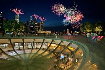 Singapore - Fireworks Poster