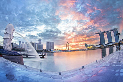 Singapore : Morning Glory Poster