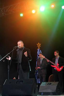 Singer Hasan Ammar In Bethlehem Poster by Munir Alawi