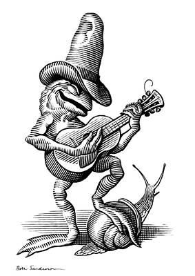 Singing Frog, Conceptual Artwork Poster by Bill Sanderson