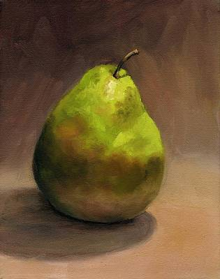 Poster featuring the painting Single Pear No. 1 by Vikki Bouffard