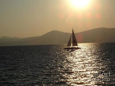 Single Sailboat Poster