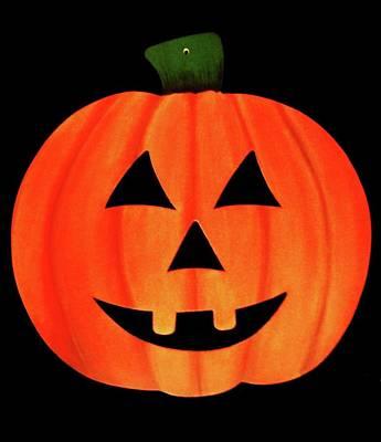 Single Smiling Jack-o'-lantern Poster