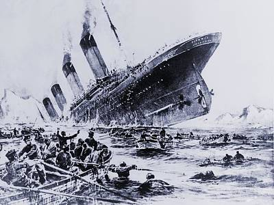 Sinking Of The Ocean Liner The Titanic Poster