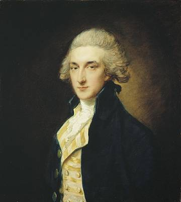 Sir John Edward Swinburne Poster by Thomas Gainsborough