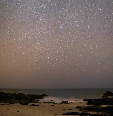 Sirius In Canis Major Over A Beach Poster by Laurent Laveder