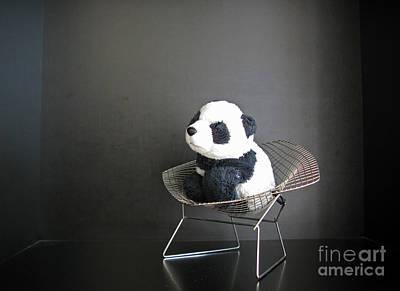 Sitting Meditation. Floyd From Travelling Pandas Series. Poster by Ausra Huntington nee Paulauskaite