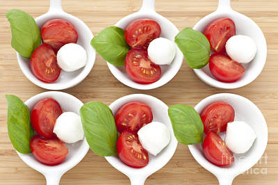 Six Caprese Appetizers Poster by Charlotte Lake