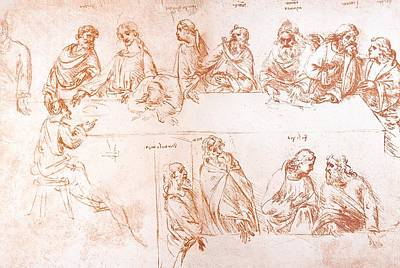 Sketch For The Last Supper Poster by Sheila Terry