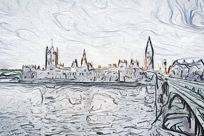 Sketch Of London Poster by Tom Gowanlock
