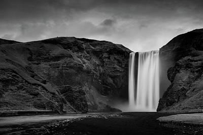Skógafoss Waterfall Poster