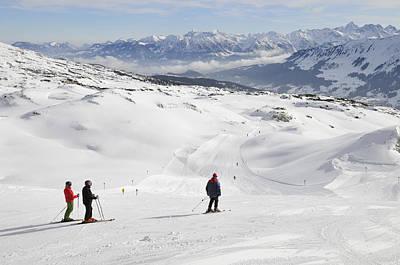 Skier On Ski-slope - Winter Landscape Poster