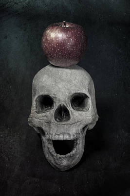 Skull And Apple Poster