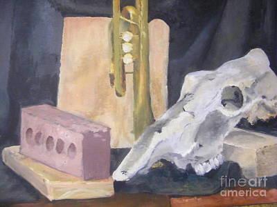 Skull And Brick Poster