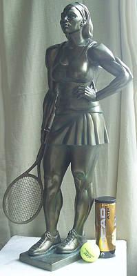 Skupture Tennis Player Poster by Zlatan Stoilov