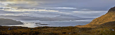 Skye From Kishorn Morning Panorama Poster by Gary Eason