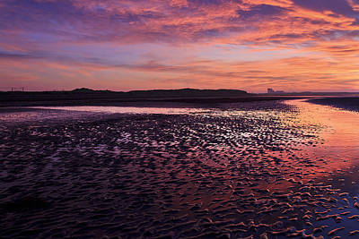 Skyfire Beach Sunrise Poster by Fiona Messenger