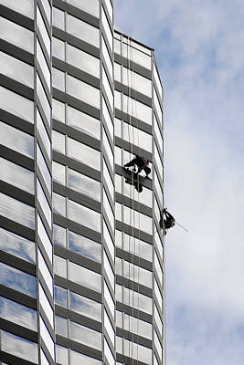 Skyscraper Window-washers - Take A Walk In The Clouds Poster