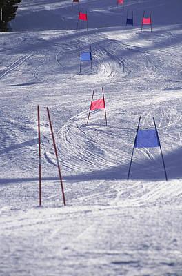 Slalom Ski Race Course Poster by Bob Winsett