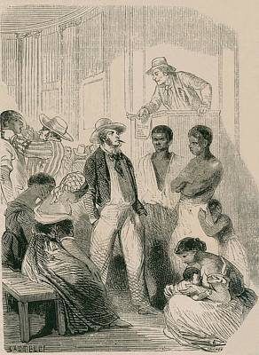 Slave Market In The United States Poster by Everett