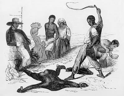 Slave Punishment In The French West Poster by Everett
