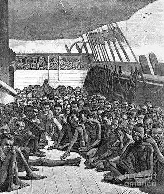 Slave Ship Poster by Photo Researchers