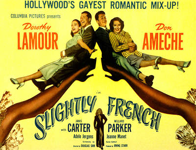 Slightly French, Dorothy Lamour, Don Poster by Everett