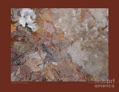 Poster featuring the photograph Slushy Autumn Leaves-i by Patricia Overmoyer