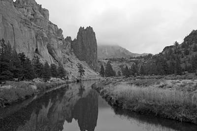 Smith Rock State Park In Black And White Poster by Twenty Two North Photography
