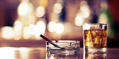 Smoke And Drink Bokeh Poster by Andy Collins Photography