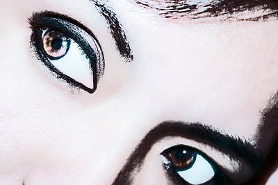 Poster featuring the digital art Smokey Eyes Of A Woman by Ester  Rogers
