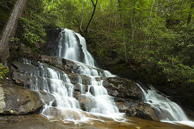 Smoky Mountain Waterfall Poster