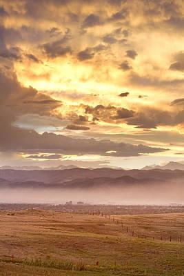 Smoky Sunset Over Boulder Colorado  Poster