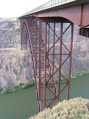 Poster featuring the photograph Snake River Bridge At Twin Falls by Rand Swift