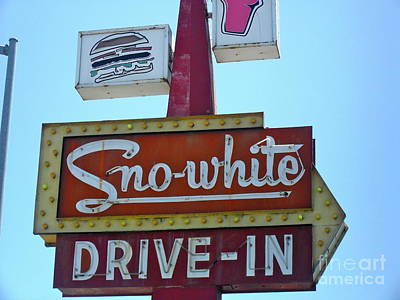 Poster featuring the photograph Sno-white by Beth Saffer