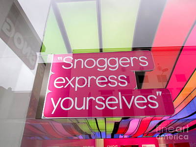 Snoggers Express Yourselves Poster by Beth Saffer