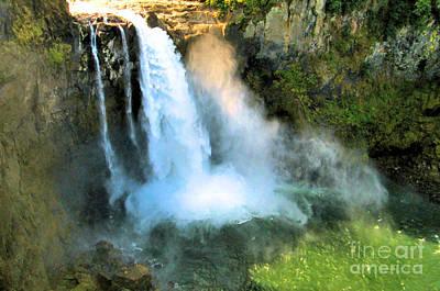 Snoqualmie Falls 2 Poster by John Krakora