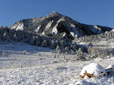 Snow Covered Bear Mountain Poster