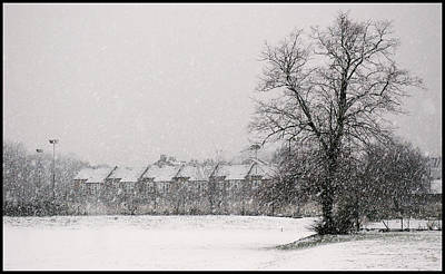 Poster featuring the photograph Snow Scape London Sw by Lenny Carter