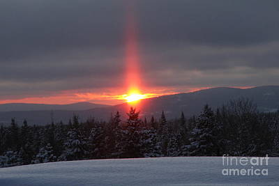 Snow Sunset Poster by Brenda Doucette