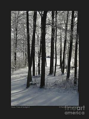 Poster featuring the photograph Snow Trees And Sunlight-ii by Patricia Overmoyer